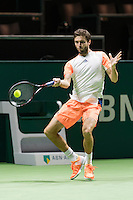 ABN AMRO World Tennis Tournament, Rotterdam, The Netherlands, 16 Februari, 2017, Gilles Simon (FRA)<br /> Photo: Henk Koster