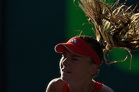 KEY BISCAYNE, FL - MARCH 25:  Daniela Hantuchova competes during Day 7 of the Sony Ericsson Open in Miami on March 25th, 2012 in Key Biscayne, FL. ( Photo by Chaz Niell/Media Punch Inc.)