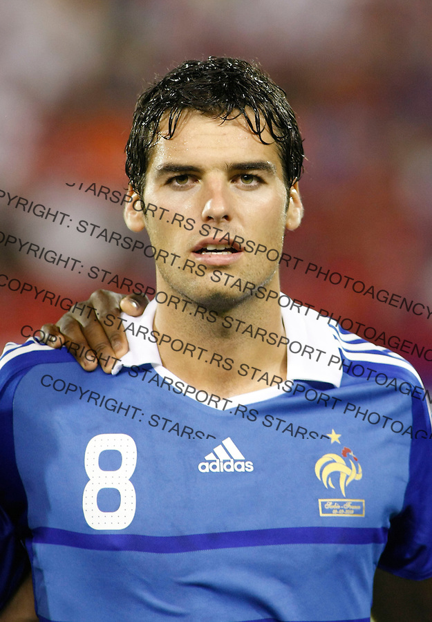 France player Yoann Gourcuff, during their World Cup 2010 qualifying soccer match between Serbia and France, at Belgrade, Serbia, September 9, 2009..Starsportphoto/Srdjan Stevanovic©