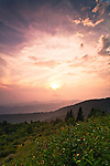 Late summer sunset over the Nantahala National Forest, Blue Ridge Parkway