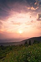 Late summer sunset over the Nantahala National Forest, Blue Ridge Parkway