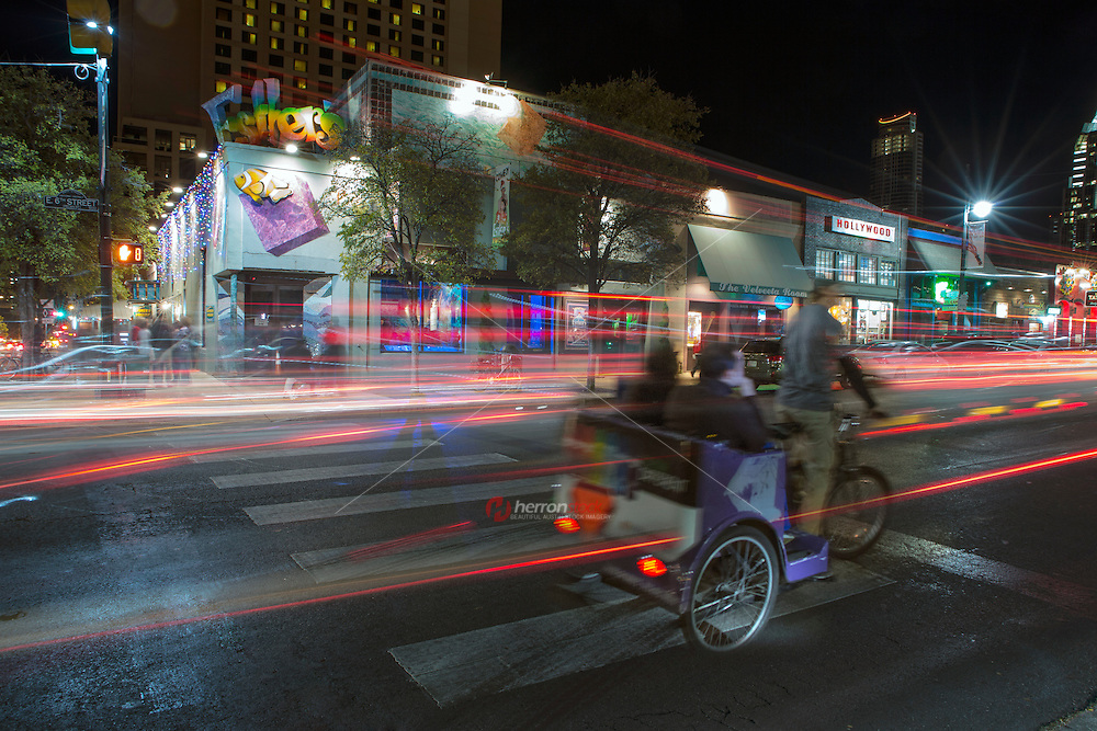 Pedicabs on 6th Street are plentiful and are the preferred mode of transportation in downtown Austin