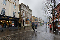 Pictured: The city centre of Bridgend, Wales, UK. Wednesday 19 February 2020<br /> Re: The effect of the Ford factory closure will have to Bridgend in south Wales, UK.