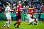 01.05.2019, RheinEnergie Stadion , Köln, GER, DFB Pokalfinale der Frauen, VfL Wolfsburg vs SC Freiburg, DFB REGULATIONS PROHIBIT ANY USE OF PHOTOGRAPHS AS IMAGE SEQUENCES AND/OR QUASI-VIDEO<br /> <br /> im Bild | picture shows:<br /> Foulspiel Alexandra Popp (VfL Wolfsburg #11) an Lena Lotzen (SC Freiburg Frauen #22), <br /> <br /> Foto © nordphoto / Rauch