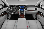 Stock photo of straight dashboard view of 2016-2017 Acura RLX Sport Hybrid 4 Door Sedan