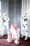 BURBANK - JUN 26: Star Wars characters, Stormtroopers, R2D2 at the 39th Annual Saturn Awards held at Castaways on June 26, 2013 in Burbank, California
