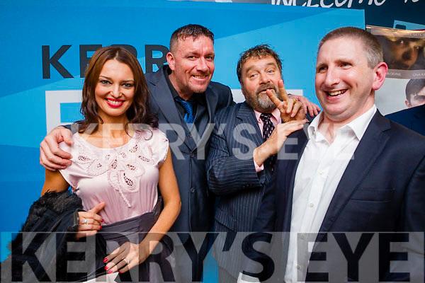 Kape Wojciechowski, Damien O'Callaghan (Director), Brendan Grace and Paul Fitzsimons, attending the premiere of 'The Gift', part of Kerry Film Festival, held in Killarney Cinema on Thursday evening last.