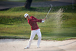 Jazz Janewattananond of Thailand gets his ball out of a bunker at the third hole during the 58th UBS Hong Kong Golf Open as part of the European Tour on 10 December 2016, at the Hong Kong Golf Club, Fanling, Hong Kong, China. Photo by Vivek Prakash / Power Sport Images