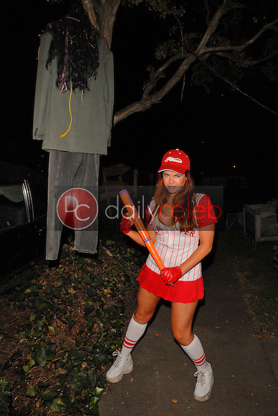 Lisa Cash<br /> preparing for the annual Halloween Bash at the Playboy Mansion, Private Location, Los Angeles, CA. 10-24-09<br /> David Edwards/DailyCeleb.com 818-249-4998