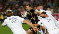 Rugby World Cup Auckland England v Scotland  Pool B 01/10/2011. Tom Croft (England)  tackles Chris Patterson (Scotland).Photo  Frey Fotosports International/AMN Images