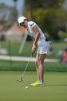 Jennifer Song putts the ball during Round 3 at the ANA Inspiration, Mission Hills Country Club, Rancho Mirage, Calafornia, USA. {03/31/2018}.<br />