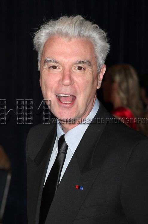 David Byrne.attending the White House Correspondents' Association (WHCA) dinner at the Washington Hilton Hotel in Washington, D.C..
