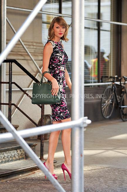 ACEPIXS.COM<br /> <br /> September 15 2014, New York City<br /> <br /> Singer Taylor Swift leaves het Tribeca apartment on September 15 2014 in New York City<br /> <br /> By Line: Curtis Means/ACE Pictures<br /> <br /> ACE Pictures, Inc.<br /> www.acepixs.com<br /> Email: info@acepixs.com<br /> Tel: 646 769 0430