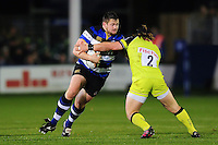 Shaun Knight of Bath Rugby takes on the Leicester Tigers defence. Anglo-Welsh Cup match, between Bath Rugby and Leicester Tigers on November 4, 2016 at the Recreation Ground in Bath, England. Photo by: Patrick Khachfe / Onside Images