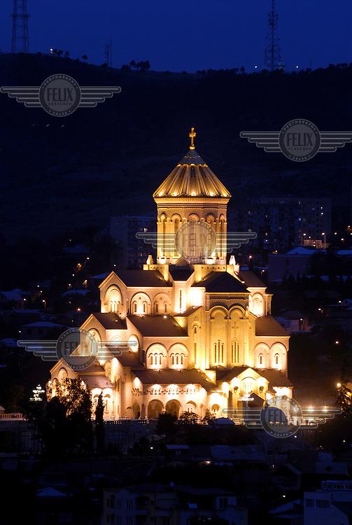 The new Tsminda Sameba Cathedral.