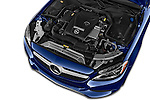 Car Stock 2017 Mercedes Benz C-Class C300 2 Door Coupe Engine  high angle detail view