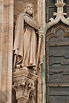 Statue on the Duomo in Milan, Italy