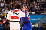 Engeland, London, 2 Augustus 2012.Olympische Spelen London.Marhinde Verkerk wint haar eerste partij van de japanse Akari Ogata