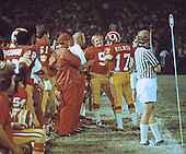 Washington Redskins quarterbacks Sonny Jurgensen (9) and Billy Kilmer (17) discuss strategy on the sidelines with assistant coach Bill Austin during a preseason game at RFK Stadium in Washington, D.C. in August, 1973. .Credit: Arnie Sachs / CNP