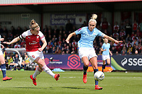 Kim Little of Arsenal Women and Steph Houghton of Manchester City Women during Arsenal Women vs Manchester City Women, FA Women's Super League Football at Meadow Park on 11th May 2019