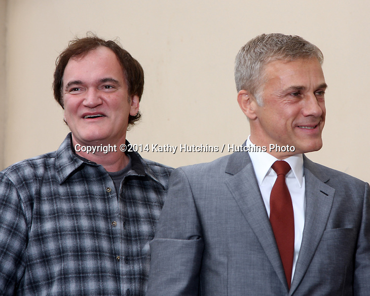 LOS ANGELES - DEC 1:  Quentin Tarantino, Christoph Waltz at the Christoph Waltz Hollywood Walk of Fame Star Ceremony at the Hollywood Boulevard on December 1, 2014 in Los Angeles, CA