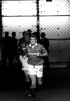 Pix:Michael Steele/SWpix...Soccer. Manchester United Football Club...COPYRIGHT PICTURE>>SIMON WILKINSON..Manchste United's Captain Stve Bruce leads his team out..