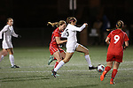 SALEM, VA - DECEMBER 3:Brooke Firestone (25) battles for the ball during theDivision III Women's Soccer Championship held at Kerr Stadium on December 3, 2016 in Salem, Virginia. Washington St Louis defeated Messiah 5-4 in PKs for the national title. (Photo by Kelsey Grant/NCAA Photos)
