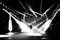 Music performance during Dancing Wolves Men's Collection, as part of the China Fashion Week. Beijing, March 26th 2015.