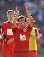 Fussball  1. Bundesliga  Saison 2013/2014  2. Spieltag VfB Stuttgart - Bayer Leverkusen     17.08.2013 JUBEL Giulio Donati (Bayer 04 Leverkusen)