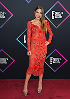 LOS ANGELES, CA. November 11, 2018: Claudia Vergara at the E! People's Choice Awards 2018 at Barker Hangar, Santa Monica Airport.<br /> Picture: Paul Smith/Featureflash
