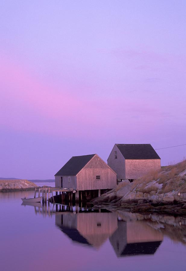 Fishing shacks on Peggy's Cove, Peggy's Cove, Nova Scotia, Canada
