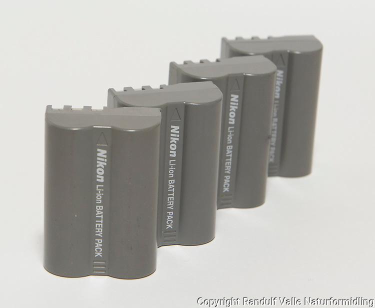 Kamerabatterier for Nikon. ----- Nikon camera batteries.