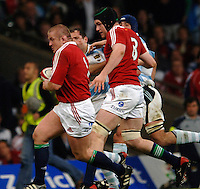 2005 British & Irish Lions vs Pumas [ Argentina], at The Millennium Stadium, Cardiff, WALES match played on  23.05.2005, Graham Rowntree, attacking with the ball, supported by Michael Owen [scrum cap] .Photo  Peter Spurrier. .email images@intersport-images...