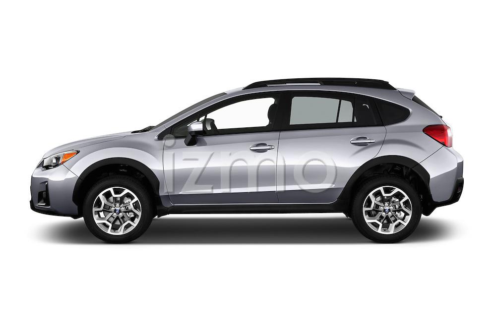 Car Driver side profile view of a 2017 Subaru Crosstrek 2.0i Premium CVT 5 Door SUV Side View