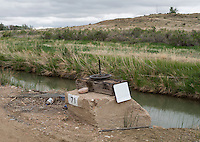 The Bessemer Ditch, near Avondale, Colorado, Tuesday, May 17, 2016. The Bessemer Ditch diverts water from the Arkansas River for agricultural use.<br /> <br /> Photo by Matt Nager