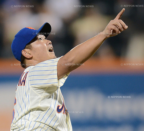 Daisuke Matsuzaka (Mets),<br /> AUGUST 28, 2013 - MLB :<br /> Pitcher Daisuke Matsuzaka of the New York Mets during the Major League Baseball game against the Philadelphia Phillies at Citi Field in Flushing, New York, United States. (Photo by AFLO)