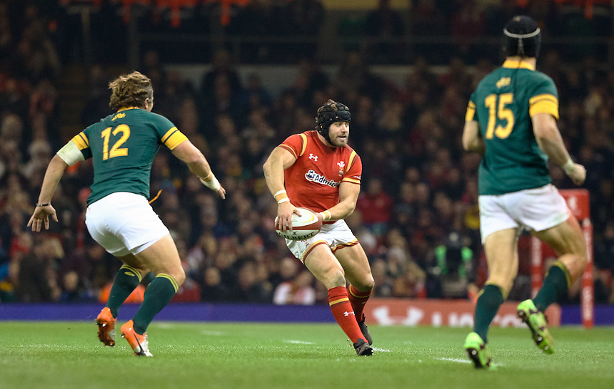Wales' Leigh Halfpenny in action during todays match<br /> <br /> Photographer Simon King/CameraSport<br /> <br /> International Rugby Union Friendly - Wales v South Africa - Saturday 26th November 2016 - Principality Stadium - Cardiff<br /> <br /> World Copyright &copy; 2016 CameraSport. All rights reserved. 43 Linden Ave. Countesthorpe. Leicester. England. LE8 5PG - Tel: +44 (0) 116 277 4147 - admin@camerasport.com - www.camerasport.com