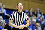 13 November 2016: Official Maggie Tieman. The Duke University Blue Devils hosted the University of Pennsylvania Quakers at Cameron Indoor Stadium in Durham, North Carolina in a 2016-17 NCAA Division I Women's Basketball game. Duke defeated Penn 68-55.
