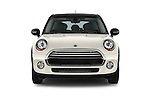 Car photography straight front view of a 2015 MINI Cooper Hardtop S 4 Door Hatchback Front View