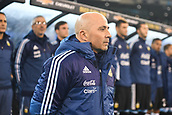 June 9th 2017, Melbourne Cricket Ground, Melbourne, Australia; International Football Friendly; Brazil versus Argentina; Argentina coach Jorge Sampaoli keeps his eye on the field ahead of the match