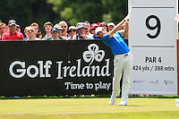 Rory McIlroy (NIR) on the 9th tee during Round 2 of the Irish Open at Fota Island on Friday 20th June 2014.<br /> Picture:  Thos Caffrey / www.golffile.ie