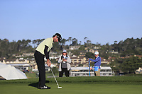 Bubba Watson (USA) putts on the 6th green during Sunday's Final Round of the 2018 AT&amp;T Pebble Beach Pro-Am, held on Pebble Beach Golf Course, Monterey,  California, USA. 11th February 2018.<br /> Picture: Eoin Clarke | Golffile<br /> <br /> <br /> All photos usage must carry mandatory copyright credit (&copy; Golffile | Eoin Clarke)