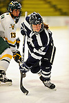 11 February 2011: University of New Hampshire Wildcat defenseman Katie Brock, a Sophomore from Marblehead, MA, in action against the University of Vermont Catamounts at Gutterson Fieldhouse in Burlington, Vermont. The Lady Catamounts defeated the visiting Lady Wildcats 4-2 in Hockey East play. Mandatory Credit: Ed Wolfstein Photo