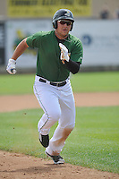 Clinton LumberKings Alex Jackson (35) runs during the Midwest League game against the Beloit Snappers at Ashford University Field on June 12, 2016 in Clinton, Iowa.  The LumberKings won 1-0.  (Dennis Hubbard/Four Seam Images)