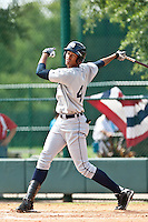 Steven Moya of the Gulf Coast League Tigers during the game against the Gulf Coast League Braves July 3 2010 at the Disney Wide World of Sports in Orlando, Florida.  Photo By Scott Jontes/Four Seam Images