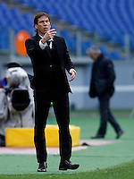 Calcio, Serie A: Roma vs Parma. Roma, stadio Olimpico, 15 febbraio 2015.<br /> Roma's coach Rudi Garcia gestures during the Italian Serie A football match between AS Roma and Parma at Rome's Olympic stadium, 15 February 2015.<br /> UPDATE IMAGES PRESS/Isabella Bonotto