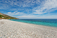 The beach Giosonas in Chios island, Greece