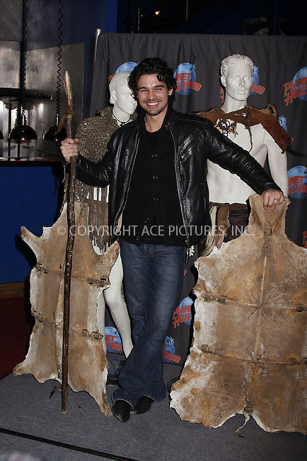 WWW.ACEPIXS.COM . . . . .  ....March 3 2008, New York City....Actor Steven Strait donates costumes and memorabilia from his upcoming film '10,000 BC' at Planet Hollywood in Times Square ....Please byline: AJ Sokalner - ACEPIXS.COM..... *** ***..Ace Pictures, Inc:  ..te: (646) 769 0430..e-mail: info@acepixs.com..web: http://www.acepixs.com