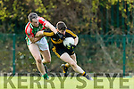 Kieran O'Leary Dr Crokes in Action against Willie Eviston Loughmore-Castleiney in the Munster Senior Club Semi-Final at Crokes Ground, Lewis Road on Sunday