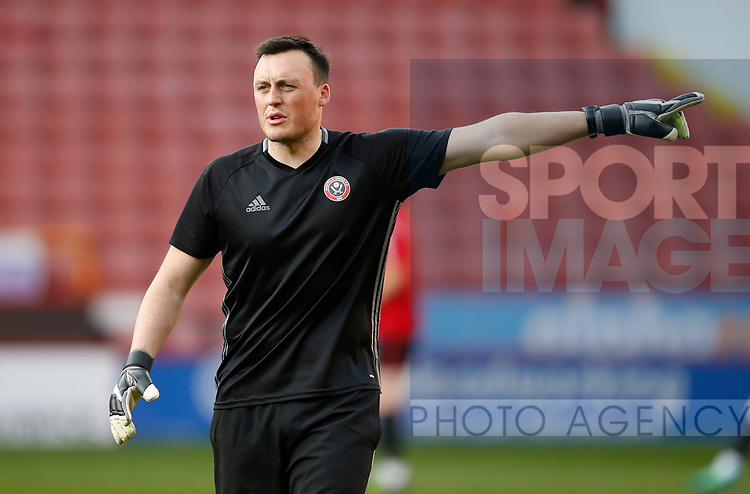 Sheffield Utd's U18 Goal Keeping coach during the U18 Professional Development League 2 play off semi final match at  Bramall Lane, Sheffield. Picture date: April 21st 2017. Pic credit should read: Simon Bellis/Sportimage